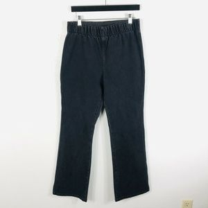Soft Surroundings Black Pull On Bootcut Jeans